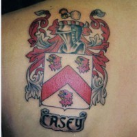 Family crest casey tattoo