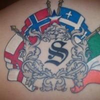 Great britain heraldic symbols tattoo