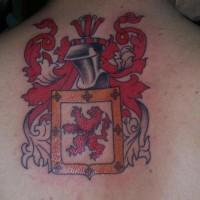 Poland city emblem tattoo