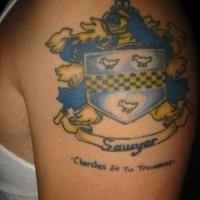 Sawyer family symbol tattoo