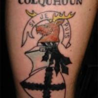 Colquhoun city emblem tattoo
