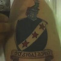 Georgian heraldic shield tattoo