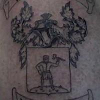 Jewish family emblem tattoo