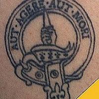 Aut agere aut mori in emblem tattoo