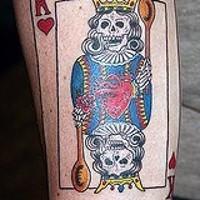re cranio con cuore tatuaggio