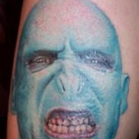 Movie voldemort face tattoo in colour