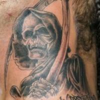 Le tatouage réaliste de la Faucheuse