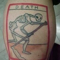 Classic death tarot card tattoo
