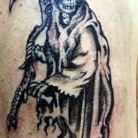 vecchio triste metitore tatuaggio