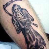 triste mititore nero inchiostro tatuaggio