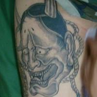 Asian suicide demon tattoo