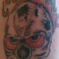 Death skull in flame  tattoo