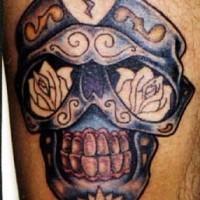 dia de muertos stile cranio tatuaggio