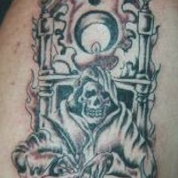 Throne of death black tattoo