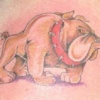 cane piacevole piccolo da cartone animato tatuaggio
