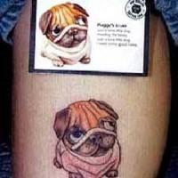 Cute bulldog tattoo from picture