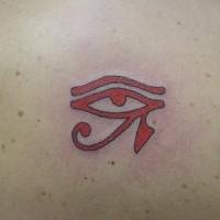 Tatuaje rojo ojo de Ra