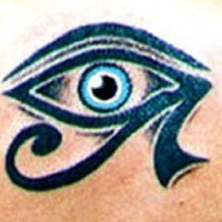 Realistic eye of horus tattoo