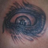 Beast eyeball tattoo