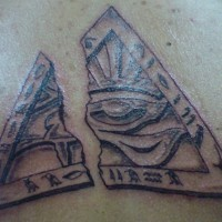All seeing eye of horus in triangle