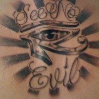 See no evil eye of ra tattoo