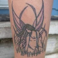 Great art fairy on field tattoo
