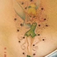 Tinkerbell in stars tattoo