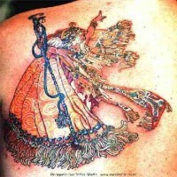 Asian style fairy tattoo