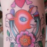 Beautiful lady horseshoe tattoo