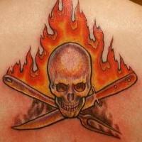 Hell cheaf fire tattoo