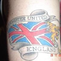 Patriotic england flag tattoo