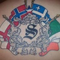 europa nord ocidentale bandiere tatuaggio