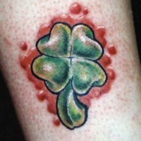 3d quadrifoglio tatuaggio