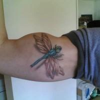 libellula 3d con ombra tatuaggio