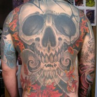 Breathe of death full back tattoo