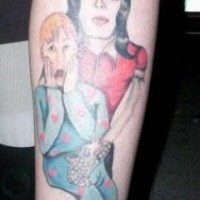 Michael jackson in home alone tattoo
