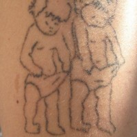Funny little kids  tattoo