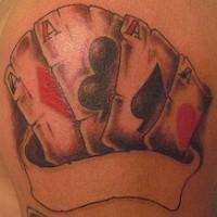 el tatuaje de Cuatro ases