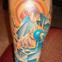 tatuaje en color de mano de bandito