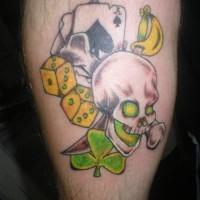 tatuaje de juego completo suerte