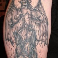 Vampire prince with wings tattoo