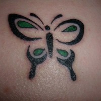 Minimalistic girly tribal butterfly