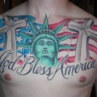 God bless america super patriotic tattoo