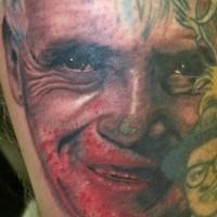 Tatouage du visage ensanglanté de Hannibal Lecter