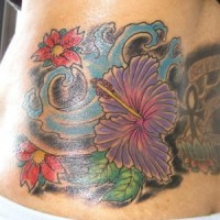 Hibiscus flowers in storm tattoo