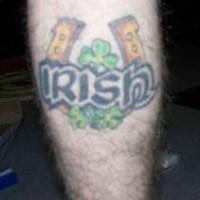 Irish luck horseshoe tattoo