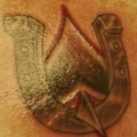 Horseshoe of spades tattoo
