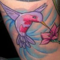 Lady hummingbird tattoo
