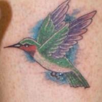 Realistic hummingbird tattoo