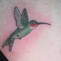 Classic style hummingbird tattoo